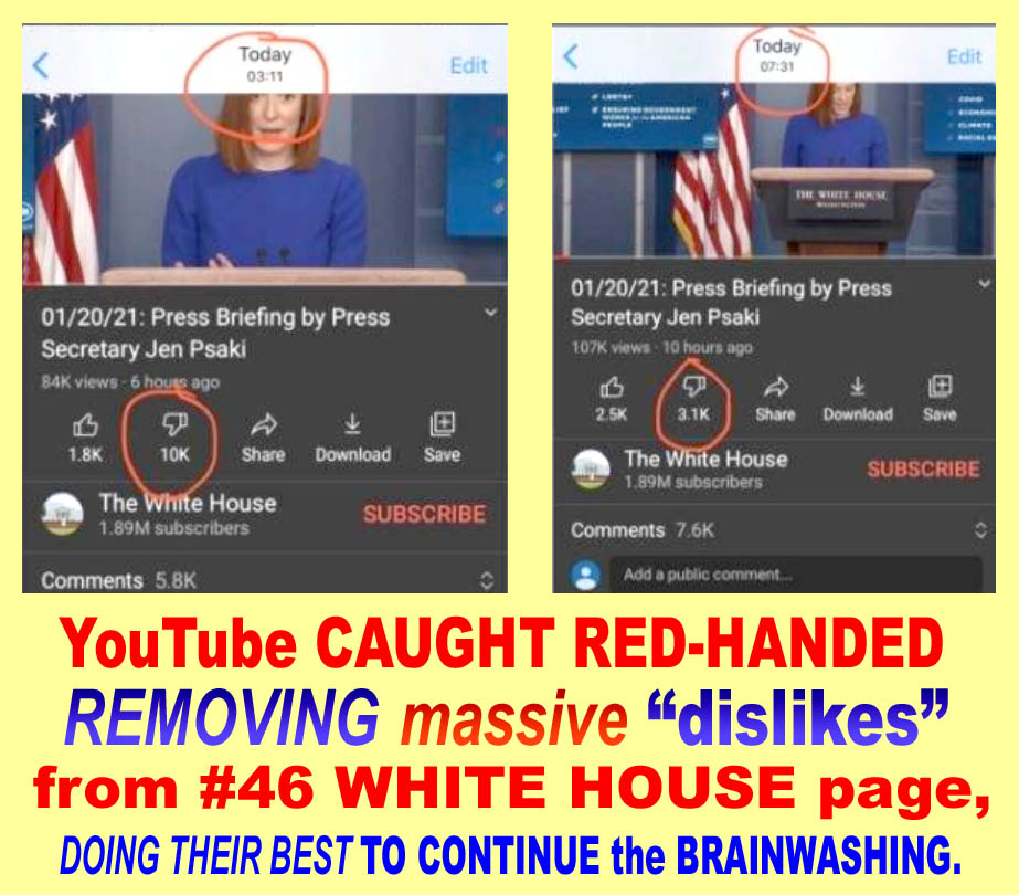#46 - YOUTUBE CAUGHT RED-HANDED REMOVING MASSIVE NOs OF DISLIKES FROM WH PAGE - JPEG.jpg