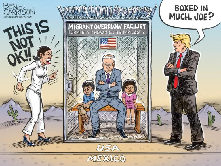 BIDEN - BOXED IN BY AOC - PUTS KIDS IN CAGES - NOT SCHOOLS - JPEG.jpeg