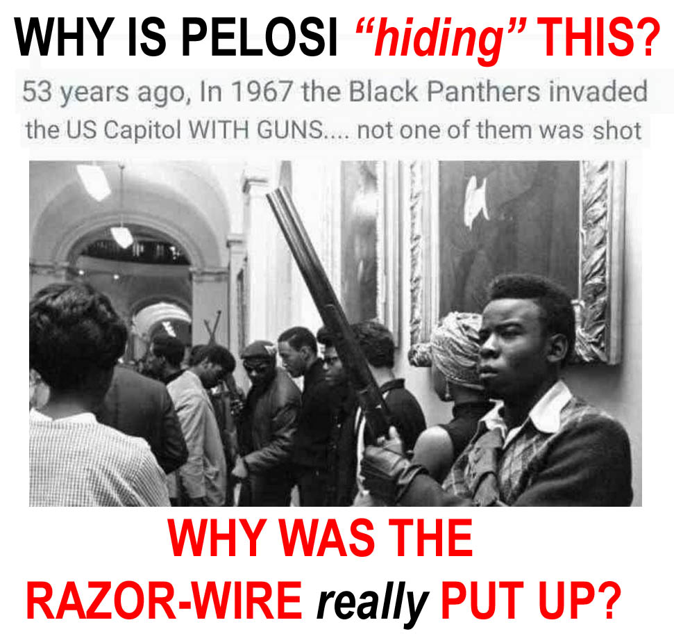 PELOSI - 1967 PANTHERS STORMED CAPITOL WITH GUNS - WHY IS RAZOR WIRE PUT UP - JPEG.jpg